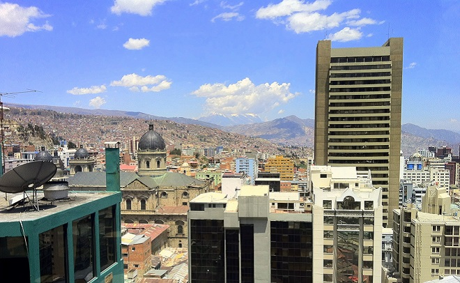 View of La Paz from Hotel Presidente