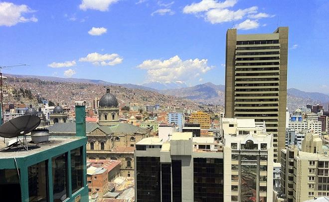 View of La Paz from Hotel Presidente