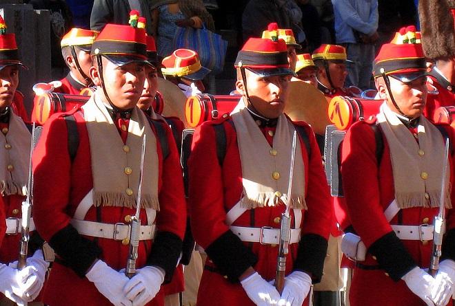 Guards at the presidential palace la paz bolivia