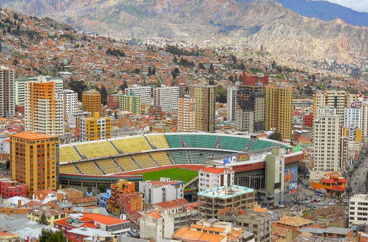 view of la paz bolivia